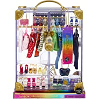 Rainbow High Deluxe Fashion Closet Playset–400+ Fashion Combinations! Portable Clear Acrylic Toy Closet Features 31…