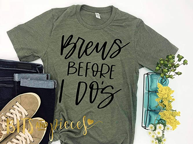 3b64ba1a Image Unavailable. Image not available for. Color: Brews Before I Do's T- Shirts - Groom Squad - Bachelor Party Shirts - Groomsmen
