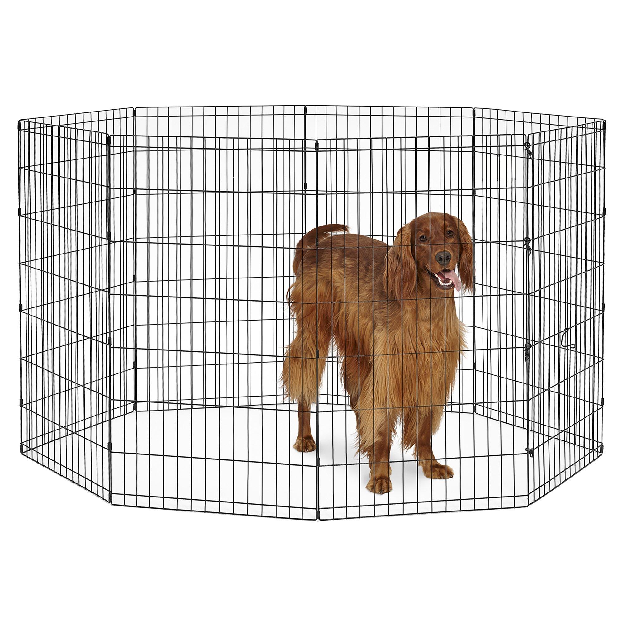 New World Pet Products B556-42 Foldable Exercise Pet Playpen, Black, Large/24'' x 42''
