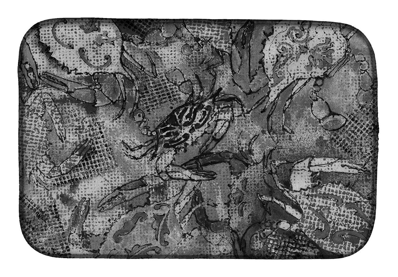 Caroline 's Treasures 8953ddmグレーキャンバス抽象Crabsディッシュ乾燥マット、14 x 21、マルチカラー   B07C924MN9