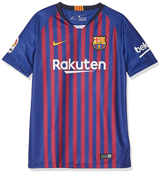 Amazon.com  NIKE 2018 19 FC Barcelona Stadium Home Big Kids  Soccer ... 03a29622a9b3d