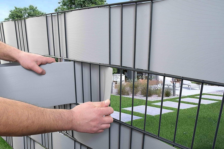 Diverse Farben Zaunsysteme Robel Premium Sichtschutzstreifen Hart-PVC  2,5 Meter x 19 cm