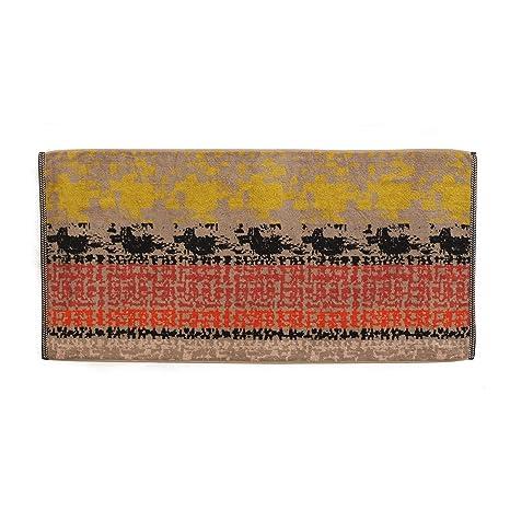 Eiffel Textile Gibara Toalla Ducha, Algodón Peinado, Rojo, 140x70x3 cm