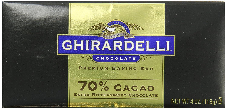 Amazon.com : Ghirardelli Chocolate Baking Bar, Extra Bittersweet ...