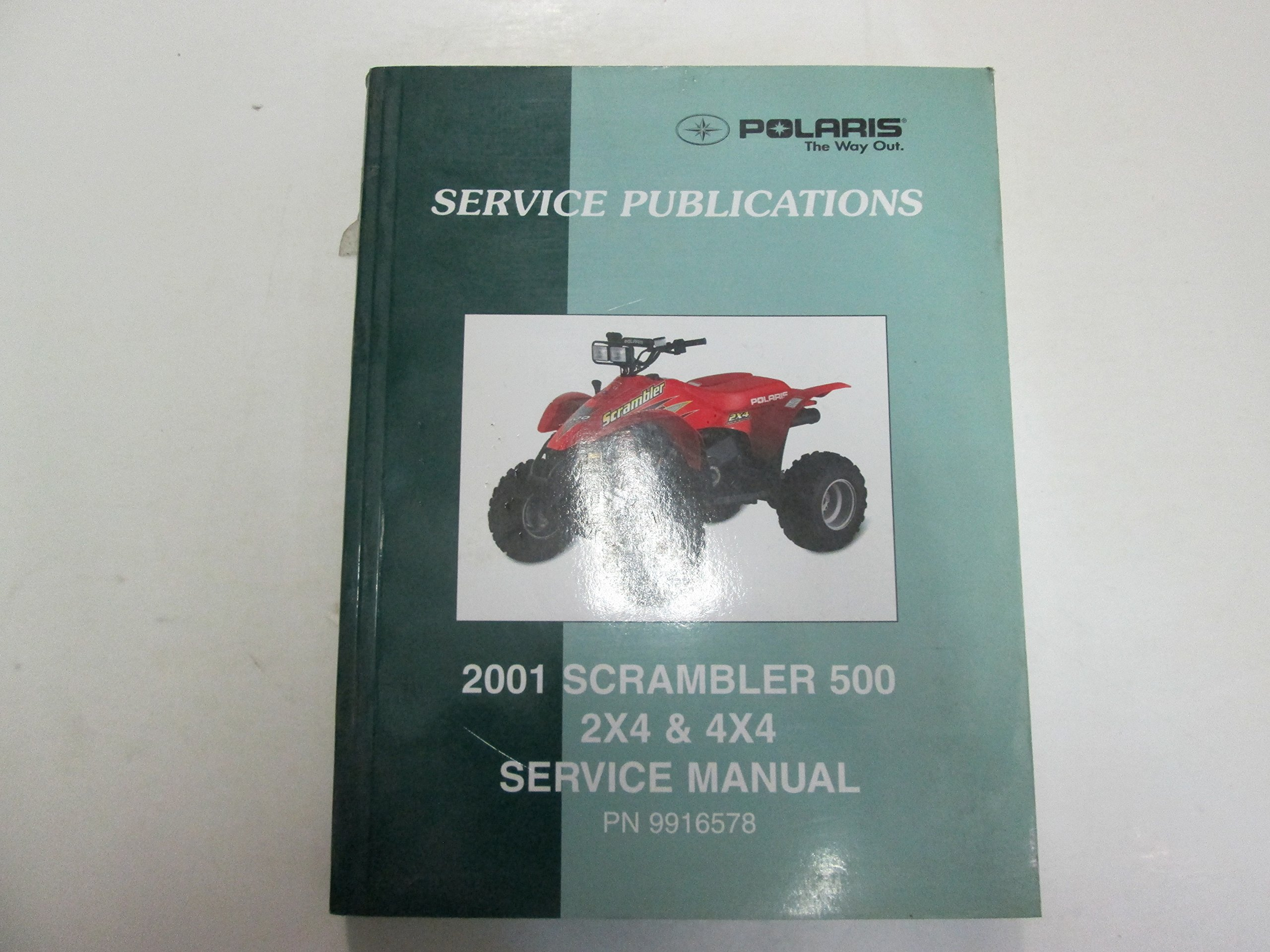 2001 Polaris Scrambler 500 2x4 4x4 Service Manual MINOR WEAR FACTORY OEM  DEAL 01: Polaris: Amazon.com: Books