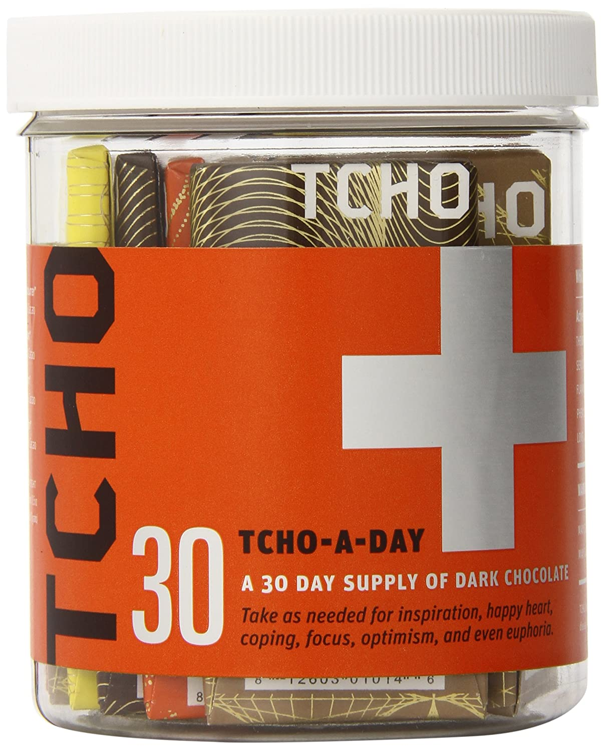 Amazon.com : TCHO Chocolate Bar, Tcho-a-Day, 30 Count : Chocolate ...