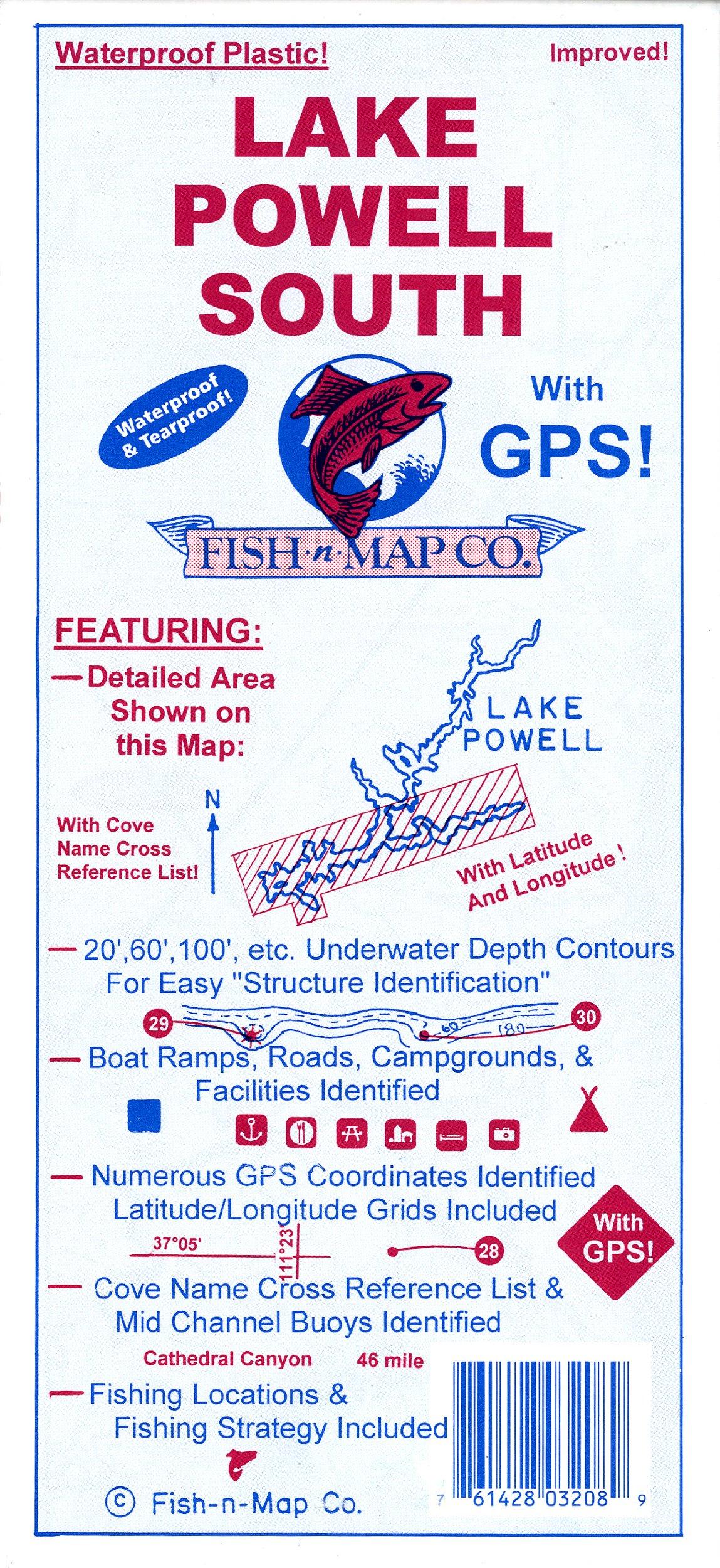 Fish-N-Map Lake Powell South