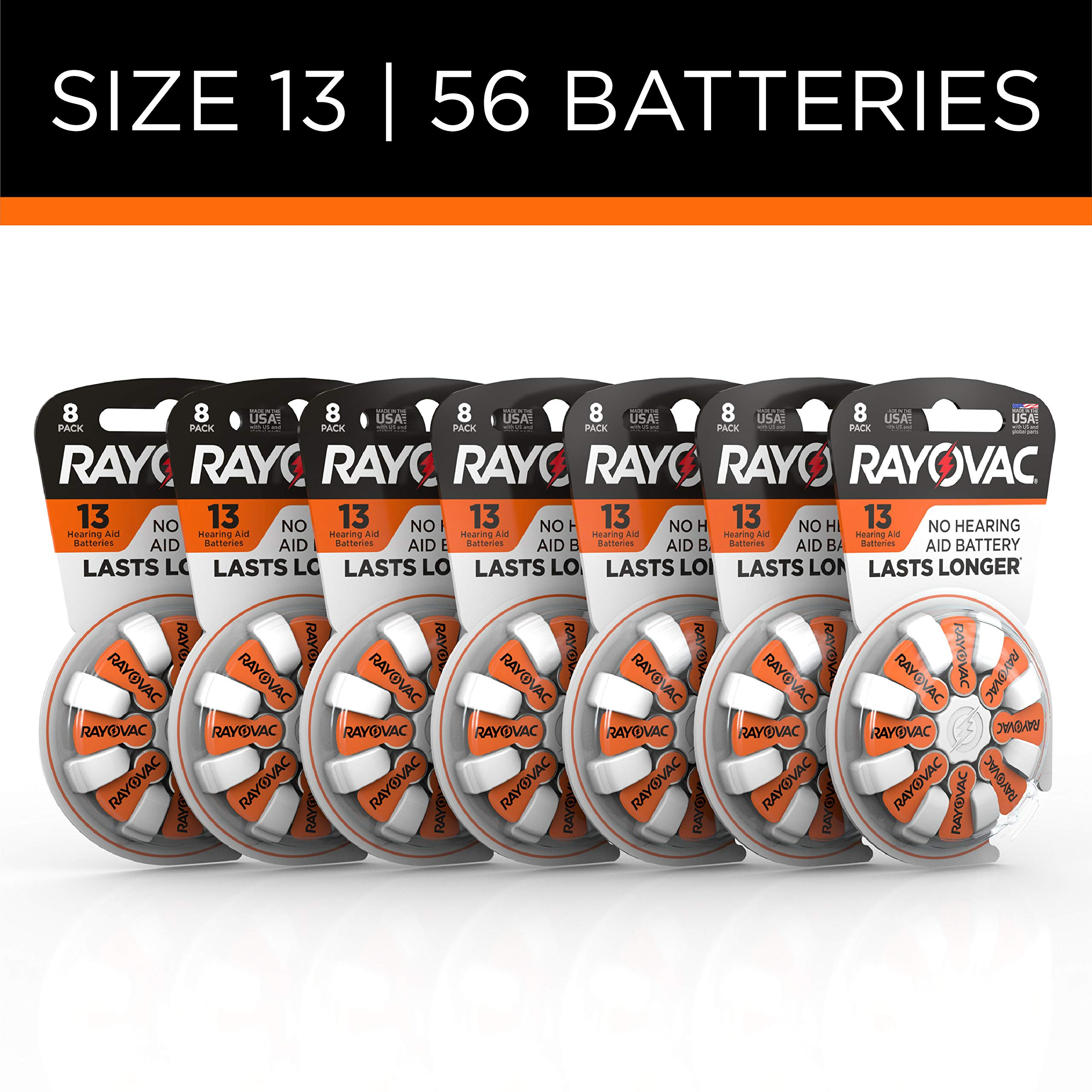 Rayovac Hearing Aid Batteries Size 13 for Advanced Hearing Aid Devices,56 Count by Rayovac