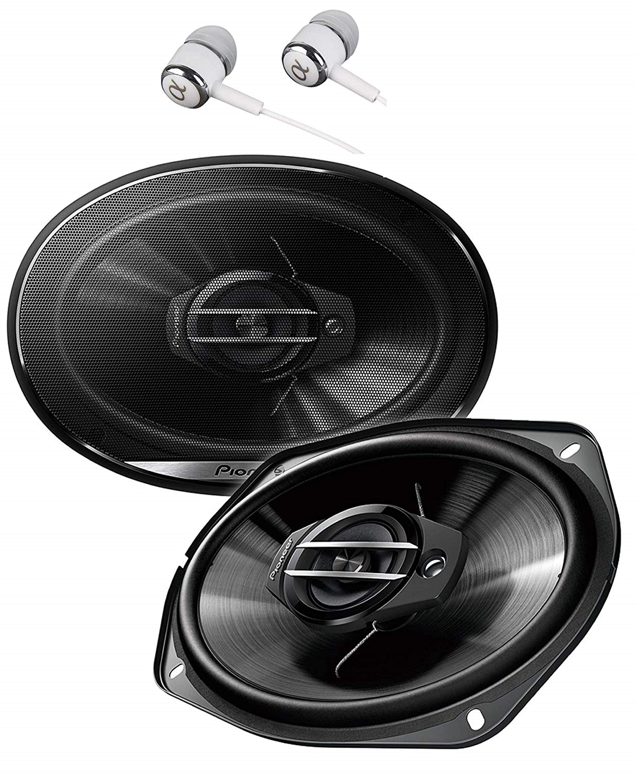 Pioneer TS-G6930F 800 Watts Max Power 6 x 9'' 3-Way G-Series Coaxial Full Range Car Audio Stereo Speakers by PIONEER