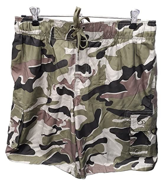 d7a3f14a7d Image Unavailable. Image not available for. Color: Ocean Pacific OP Mens  Elastic Waist Swim Short Trunks - Tugger Above Knee ...