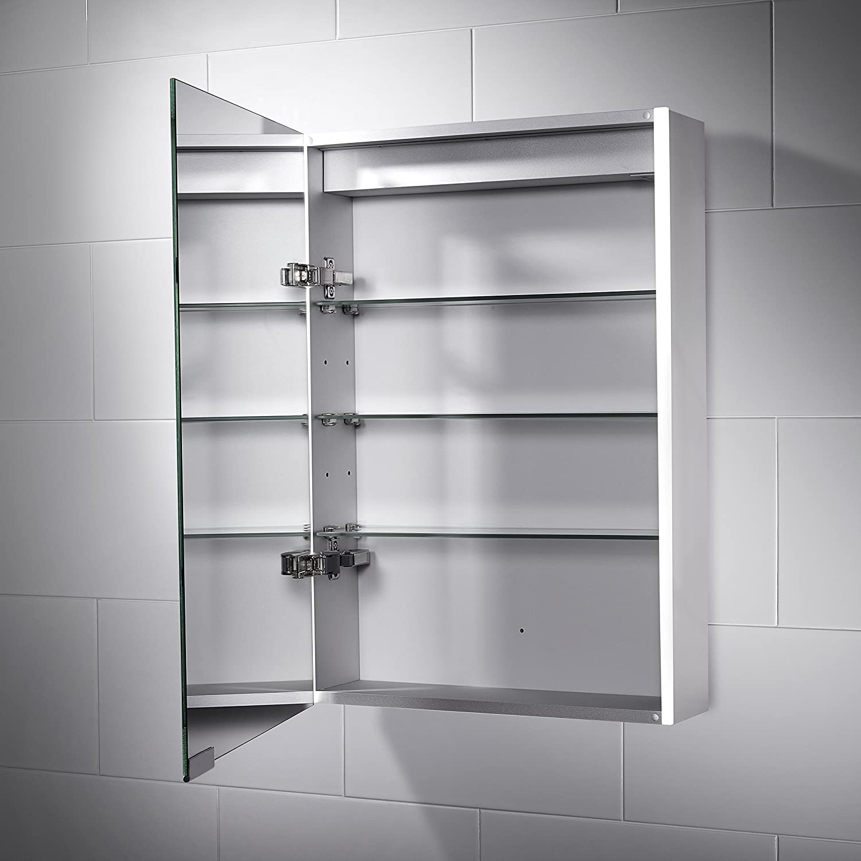 Pebble Grey Bathroom Cabinet - Sienna LED Illuminated Bathroom ...