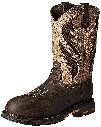 Ariat Work Men's Workhog Venttek Composite Toe Work Boot, Bruin Brown/Stone,  7