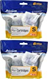 (2 Pack) Aqueon Minibow Replacement Filter Cartridge Size Small (6 Cartridges Per Pack / 12 Total)