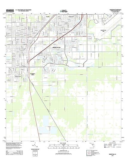 Map Of Homestead Florida.Amazon Com Topographic Map Poster Homestead Fl Tnm Geopdf 7 5x7