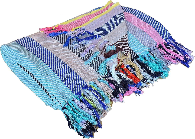 Amazon.com Bazzar Tradition Towels Peshtemal in 210 X 250 CM 100 Cotton for Beach Bath ...