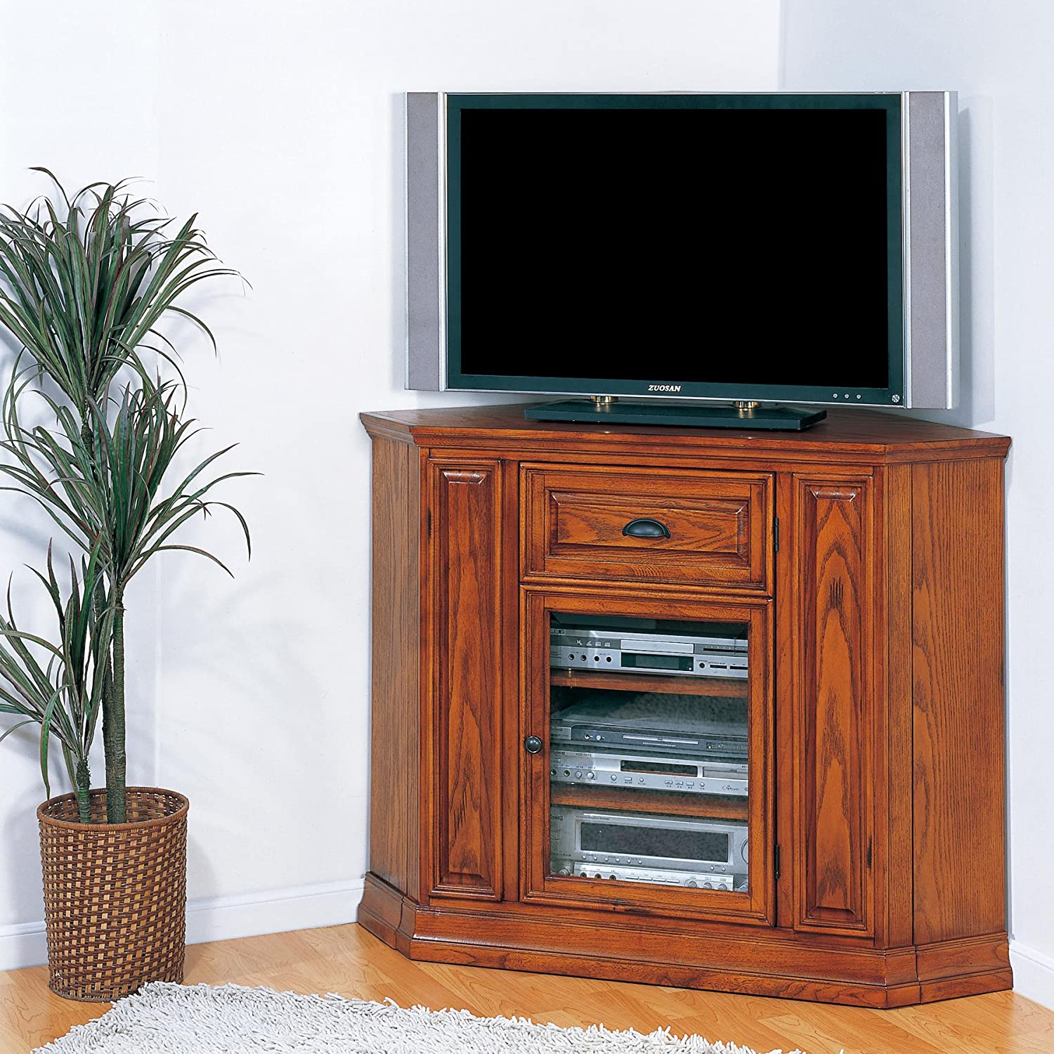 Amazon.com: Leick Riley Holliday Boulder Creek Corner TV Stand, 36 Inch  Tall: Kitchen U0026 Dining