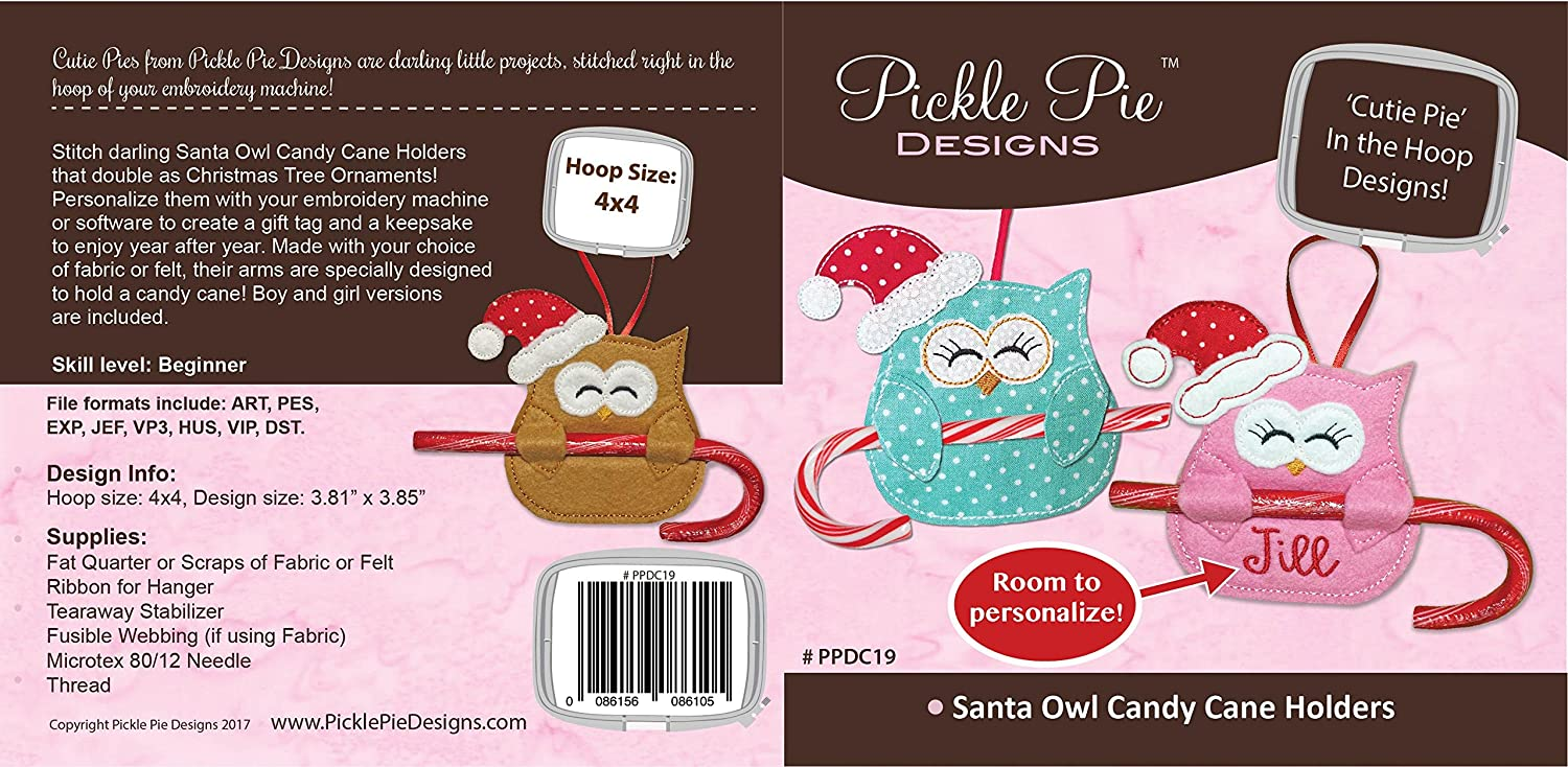CHRISTMAS CANDY CUTIES MACHINE EMBROIDERY CD From Pickle Pie Designs NEW