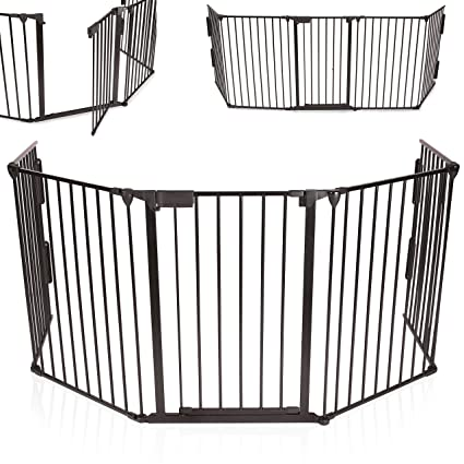 KIDUKU® Barrera de seguridad Reja de protección Quitafuegos para chimenea parque para niños corralito,