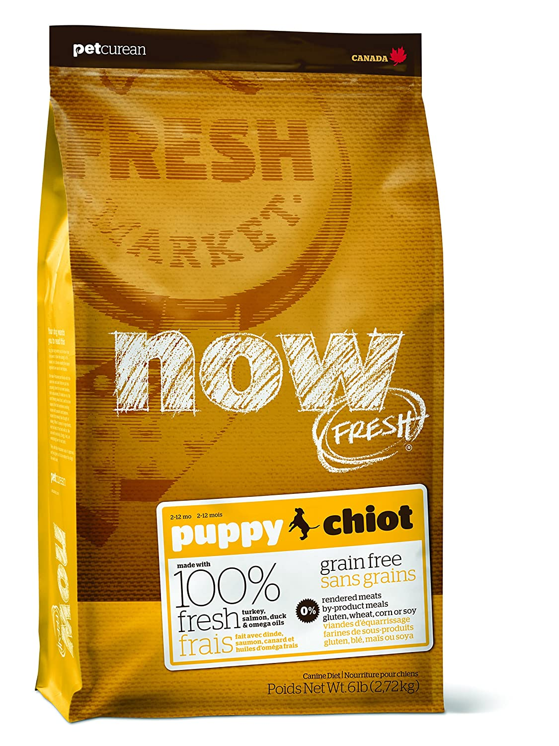 Petcurean Now Fresh Grain Free Puppy Food, 6-Pound Bag