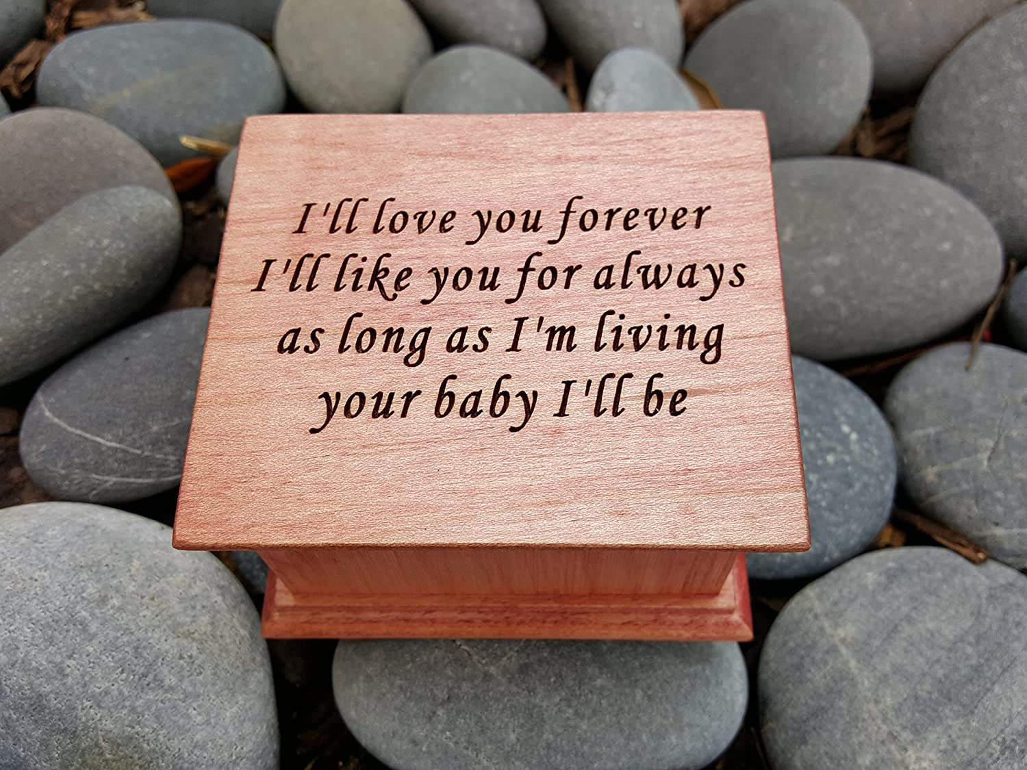 Amazon Custom Made Music Box With Quote Ill Love You Forever