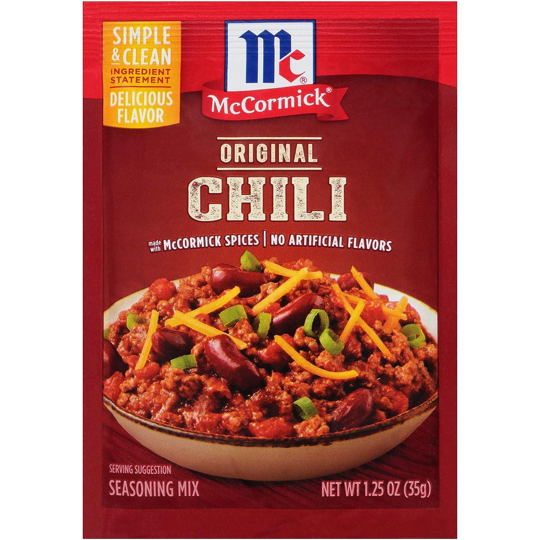 Amazon Com Mccormick Classic Chili Seasoning Mix Packet 1 25 Oz Pack Of 24 Chili Powder Grocery Gourmet Food