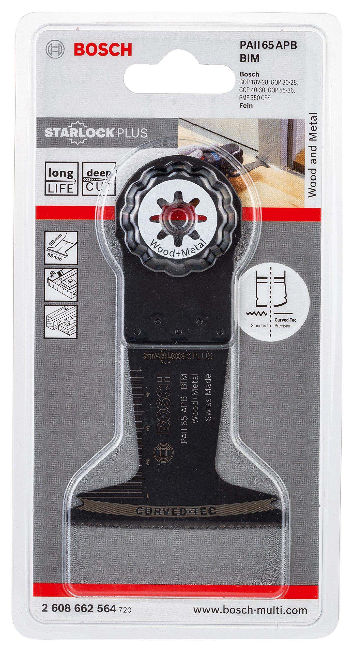 Bosch Starlock Oscillating Multi Tool 2608662564 Plunge Cut Saw Blade ''Paii 65 Apb'' of Bi-Metal by Bosch (Image #2)