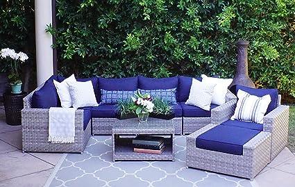 Amazon Com Sunhaven 8 Piece Outdoor Furniture Set For Patio Deck