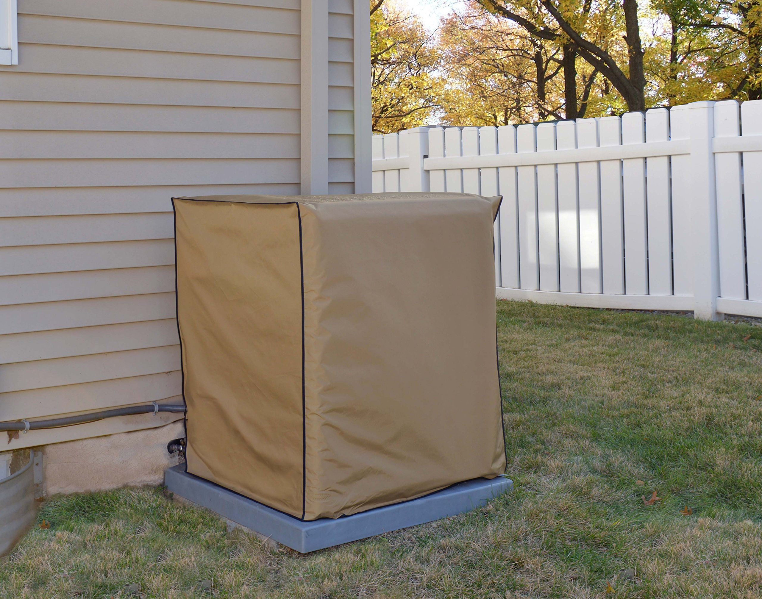 Air Conditioning System Unit GOODMAN MODEL GSX160241 Waterproof Tan Nylon Cover By Comp Bind Technology Dimensions 29''W x 29''D x 32''H