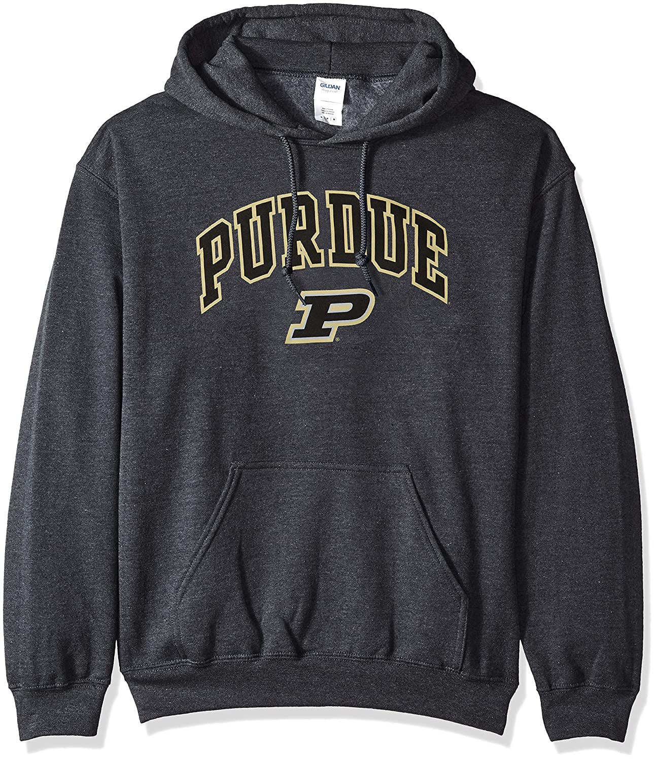 Dark Heather Small NCAA Purdue Boilermakers Mens Hoodie Sweatshirt Dark Charcoal Gray