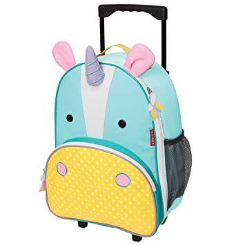 Amazon.com : Skip Hop Zoo Kids Rolling Luggage, Eureka Unicorn ...