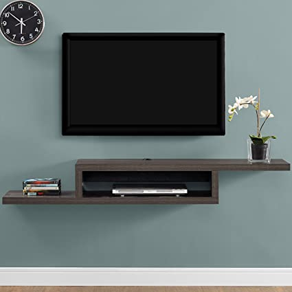 Amazoncom Martin Furniture Asymmetrical Floating Wall Mounted Tv