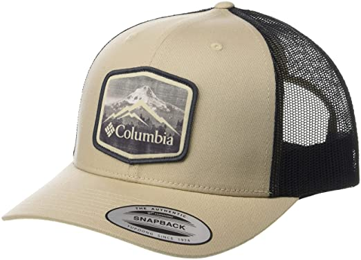 2fa409b375a993 Columbia Men's Mesh Snap Back Hat, Ancient Fossil, Hex Patch One Size