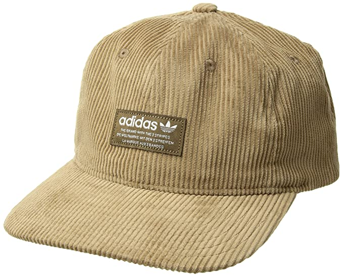 85a983ad454 Amazon.com  adidas Men s Originals Wide Wale Corduroy Relaxed Adjustable  Strapback Cap