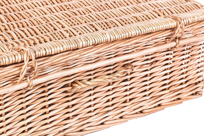 Slate /& Rose Hamper Basket Wicker Natural L56cm x W37cm x D20cm