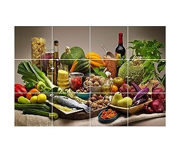 Buy Decor Kafe Waterproof Kitchen Healthy Food Wall Sticker