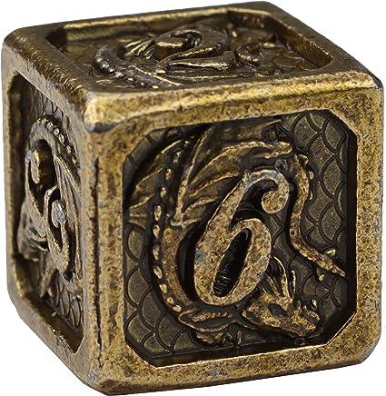 Witchcraft Black-Gold 7-Piece Handmade D/&D Dice Set