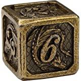 DND Metal Dice Set by Dragon Nest Store | 7 Die Heavy Polyhedral D&D Engraved Dice with Dragon | Ideal for Dungeons and…