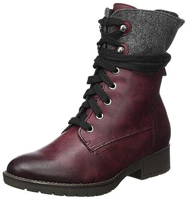 Jana Damen 26215 Combat Boots, Rot (Bordeaux), 41 EU
