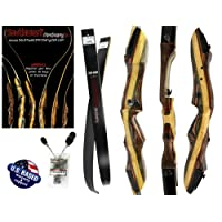 "Southwest Archery Tigershark Takedown Recurve Bow and Arrow Set – 62"" Recurve Hunting Bow – Right & Left Hand – Draw Weights in 25-60 lbs – USA Based Company – Perfect for Beginner to Pro"