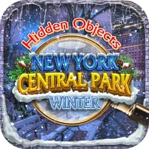 Hidden Objects Central Park Winter New York City - Holiday Snow Gardens Object Time Puzzle FREE Photo Pic Game & Spot the Difference Christmas