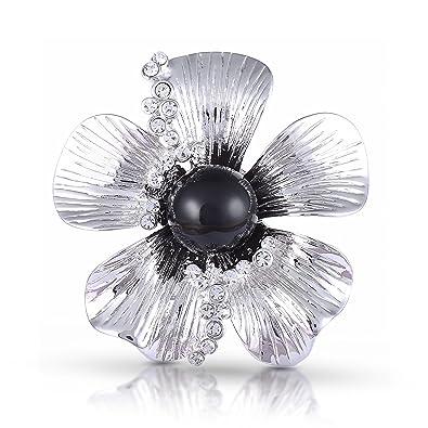 Broche de flores para mujer con cristales de Swarovski, caja ...