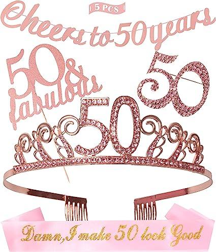 Amazon.com: Tiara de 50 cumpleaños para decoración de ...