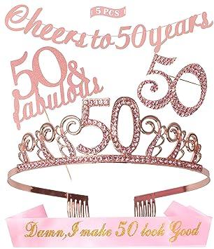 Amazon.com: 50 cumpleaños decoraciones fiesta suministros de ...
