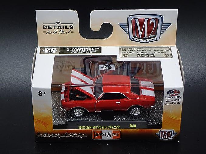 Amazon.com: M2 Machines 1968 Chevy Chevrolet Camaro Z/28 R40 2018 Detroit Muscle: Toys & Games