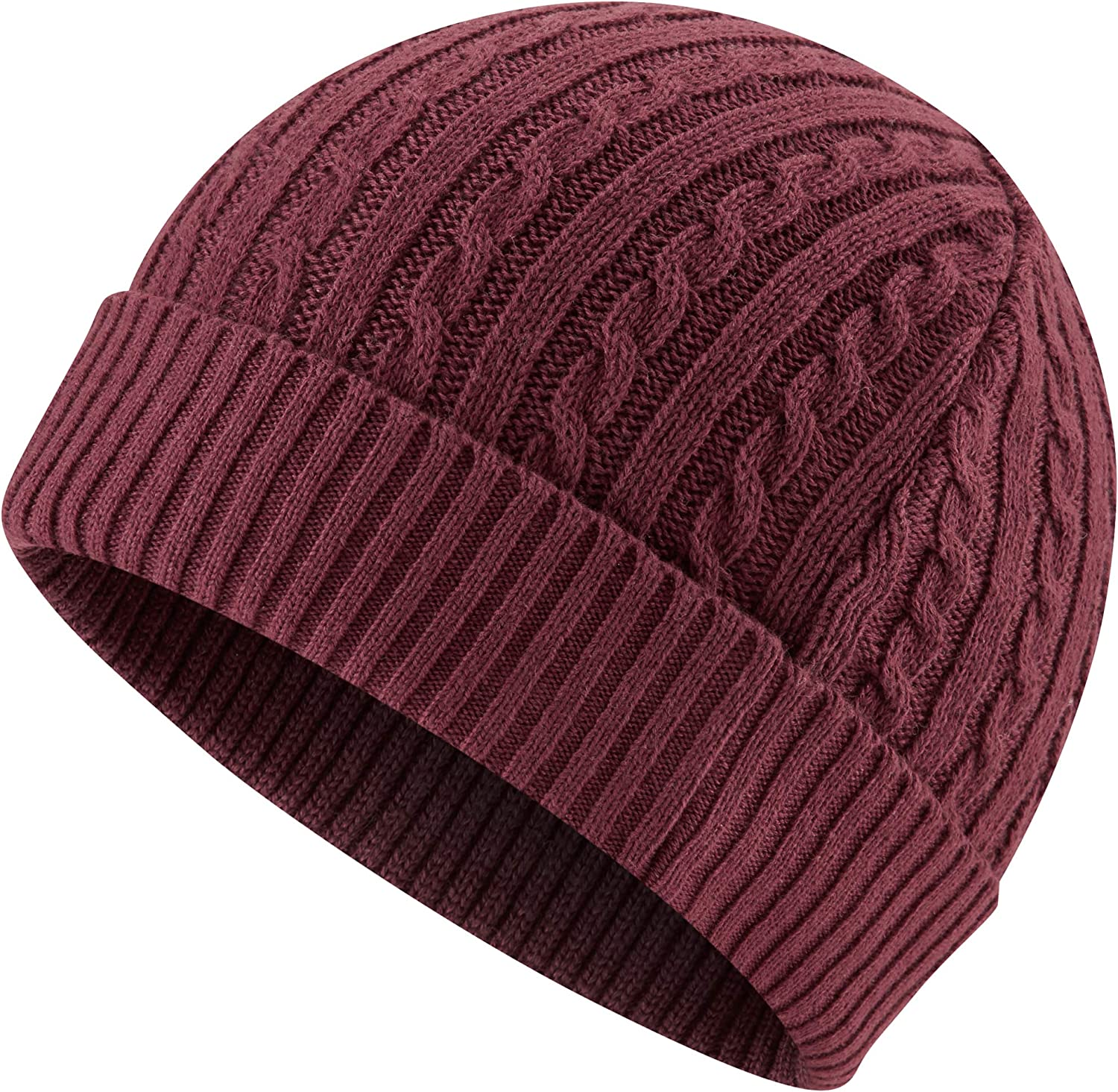 Charles Wilson Mens Knitted Cotton Beanie Hat