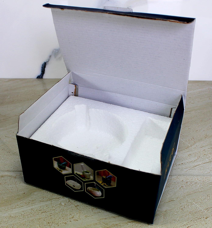"KLEO 2.5"" Diameter White Marble Stone Mortar and Pestle Set Spice, Medicine Pills Grinder Masher - SMALL SIZE: Kitchen & Dining"