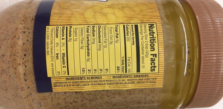 Lieber cremoso de almendra mantequilla Kosher Tuerca para ...