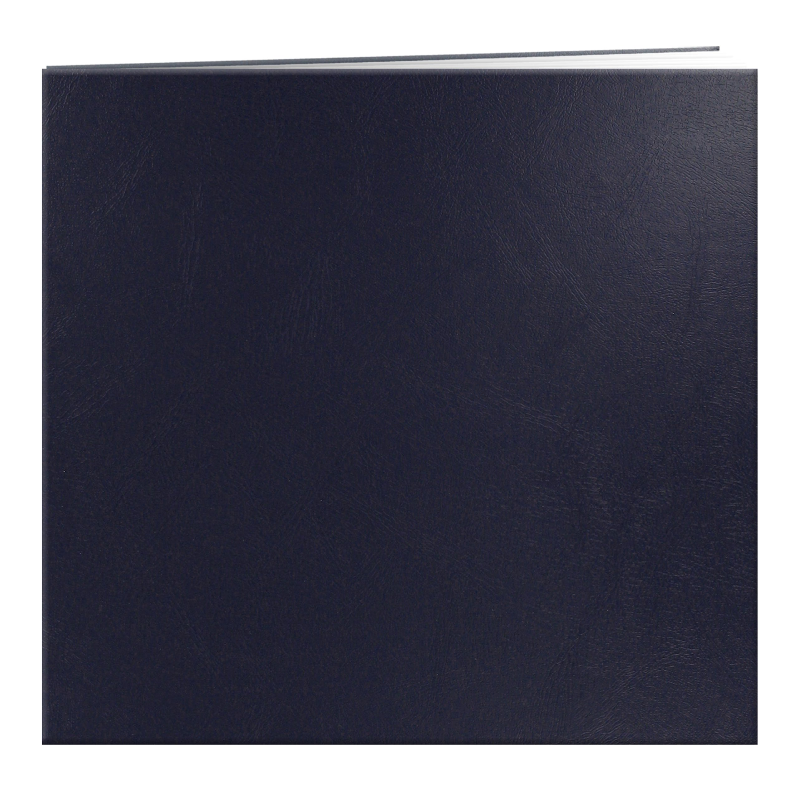 Pioneer Leatherette Postbound Album, 12-Inch-by-12-Inch, Navy