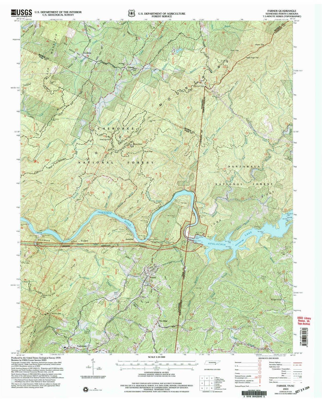 Amazon Com Yellowmaps Farner Tn Topo Map 1 24000 Scale 7 5 X 7 5