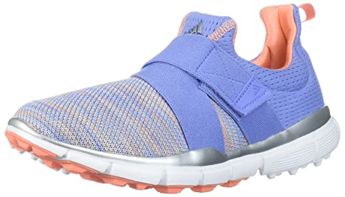 finest selection f6a9c 32373 adidas Women s Climacool Knit Golf Shoe, Chalk Purple Blue Coral s, 5